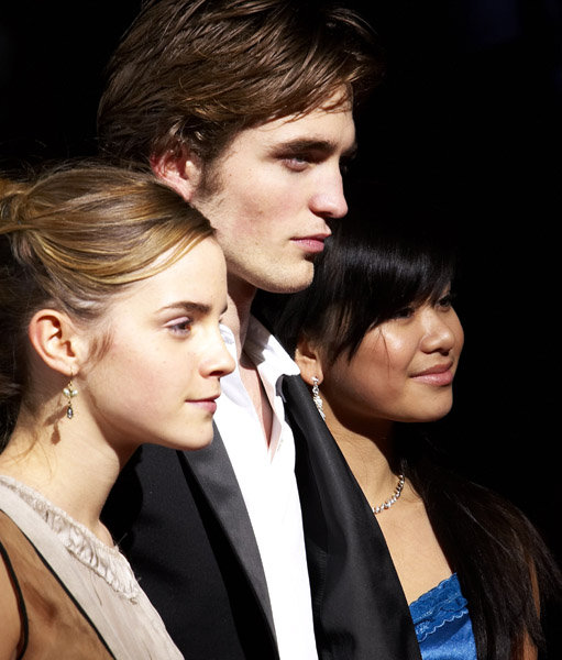Emma Watson, Robert Pattinson and Katie Leung